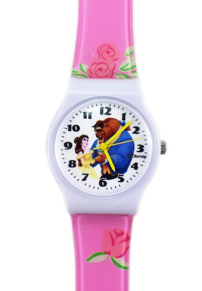 【卡漫城】 美女與野獸 卡通錶 ㊣版 貝兒 Belle and Beast 王子 手錶 兒童錶 女錶 膠錶 公主 迪士尼