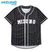 MIZUNO SPORTS STYLE 男裝 短袖 棒球衣 復古 條紋 1906 黑【運動世界】D2TA950109