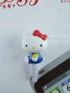 【震撼精品百貨】Hello Kitty 凱蒂貓~KITTY耳機防塵塞-藍側坐