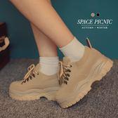 鞋子 Space Picnic|麂皮復古厚底休閒鞋(現貨)【C18092001】