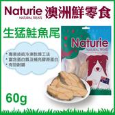 PetLand寵物樂園《Naturie 澳洲鮮零食》生猛鮭魚尾 60g/包 -狗零食