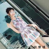 大碼韓國裙式學生游泳衣