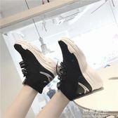 彈力ins超火的襪子鞋韓版ulzzang厚底鯊魚嘻哈街舞運動高筒鞋 可可鞋櫃