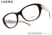 LOEWE 光學眼鏡 LW875 C09XK (琥珀) 簡約別緻LOGO淑女款 # 金橘眼鏡