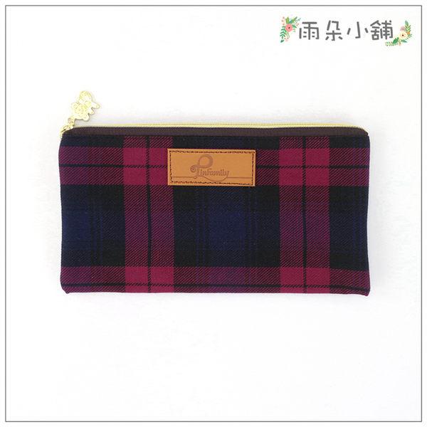 經典扁包 包包 防水包 雨朵小舖M375-002 經典扁包-格紋紅01001 funbaobao
