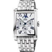 ORIS 豪利時 Rectangular 月相經典機械手錶 0158176584071-0782382