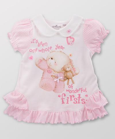 【限時5折】Hallmark Babies 女嬰夏日長絨棉短袖連衣裙 / 洋裝 《Forever Friends》FC1-B05-09-BG-MR