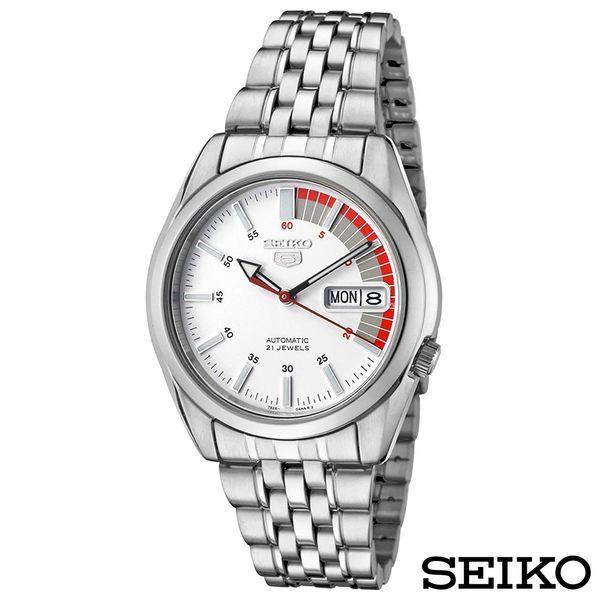 SEIKO精工 極速先鋒夜光5號自動上鍊機械腕錶 SNK369K1