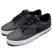 Nike 滑板鞋 SB Check Solar CNVS 黑 白 街頭 雪花 休閒鞋 運動鞋 男鞋【PUMP306】 843896-004