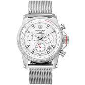 【BENTLEY】賓利 RACING系列 競速美學計時手錶 (銀 BL1694-10WWI-M)