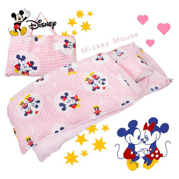 米奇 牽牽手 粉 兒童睡袋 標準 台灣製 超取限一顆 伊尚厚生活美學