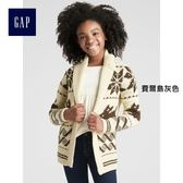 Gap x Sarah Jessica Parker系列女童 長袖開襟針織衫 356353-費爾島灰色