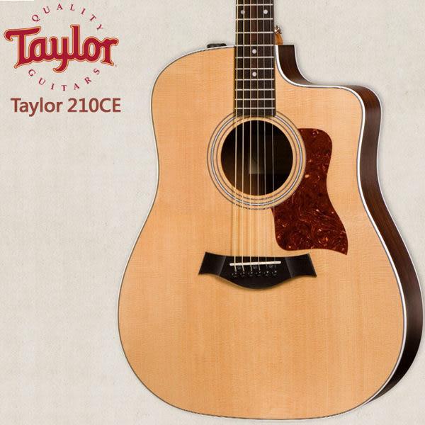 【非凡樂器】Taylor 210CE 電木吉他 / 民謠吉他 / 贈原廠背帶+超值配件包 / 公司貨