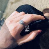 戒指抖音同款女個性轉動旋轉開口指環【聚寶屋】