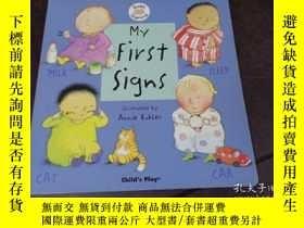 二手書博民逛書店BABY罕見SIGNING,MY FIRST SIGNS 嬰兒手