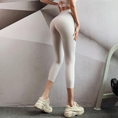 透氣健身褲女夏季彈力緊身提臀打底褲外穿薄款速干瑜伽褲七分褲