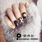 假指甲片/可愛笑臉短款貼片【歐洲站】