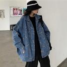 牛仔外套 工裝牛仔外套女春秋新款潮ins港味復古寬鬆韓版短款嘻哈夾克