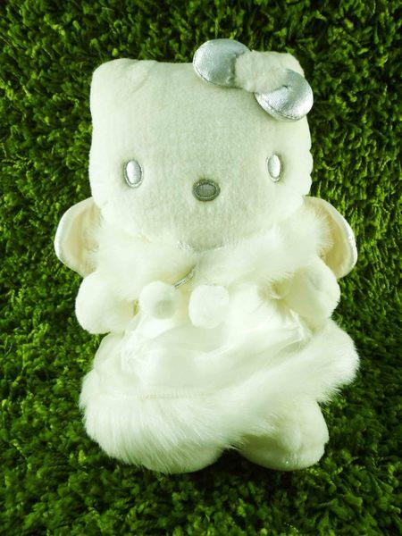 【震撼精品百貨】Hello Kitty 凱蒂貓~KITTY絨毛娃娃-天使圖案-白毛