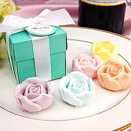 婚禮小物-歐美同步流行-Tiffany經典藍玫瑰皂禮盒-伴娘禮/活動禮/送客禮/來店禮//贈品 幸福朵朵