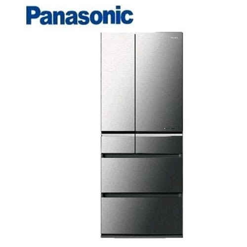 Panasonic 國際牌NR-F602VX-X1 601L日本製六門全平面晶鑽鏡面變頻冰箱