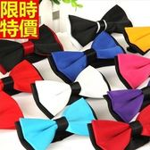 領結 男士配件(任三條)-韓版時尚撞色雙層襯衫領結15色69d19【巴黎精品】