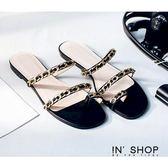 IN'SHOP涼鞋-歐美率性鍊飾繞指時髦涼拖鞋-共2色【KF00884】