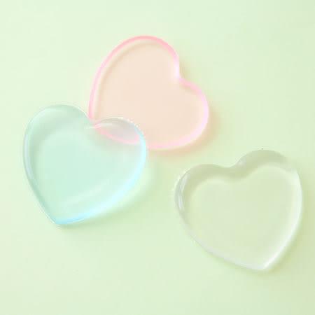 透明矽膠粉撲(愛心款) 矽膠粉撲 矽膠海綿 粉撲 果凍粉撲 粉底液 BB霜 CC霜 彩妝 用具