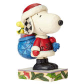 《Enesco精品雕塑》SNOOPY聖誕老人塑像-Here Comes Snoopy Claus(Peanuts by Jim Shore)_EN91757