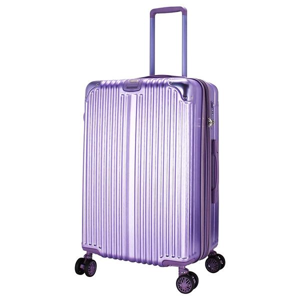 25吋星光防盜拉鍊旅行箱-紫色