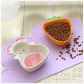 胡蘿卜兔子 寵物碗狗碗貓碗貓盆小狗狗碗貓食盆陶瓷泰迪貓咪用品-Ifashion