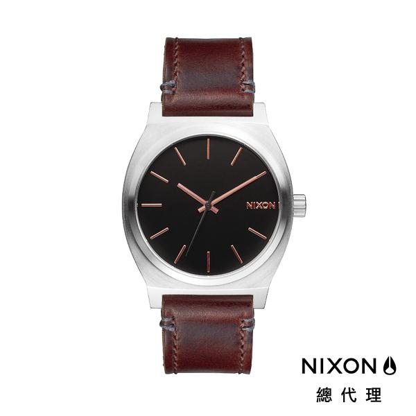 【官方旗艦店】NIXON TIME TELLER 極簡工裝小錶款 皮革錶帶 玫瑰金刻度 潮人裝備 潮人態度 禮物首選