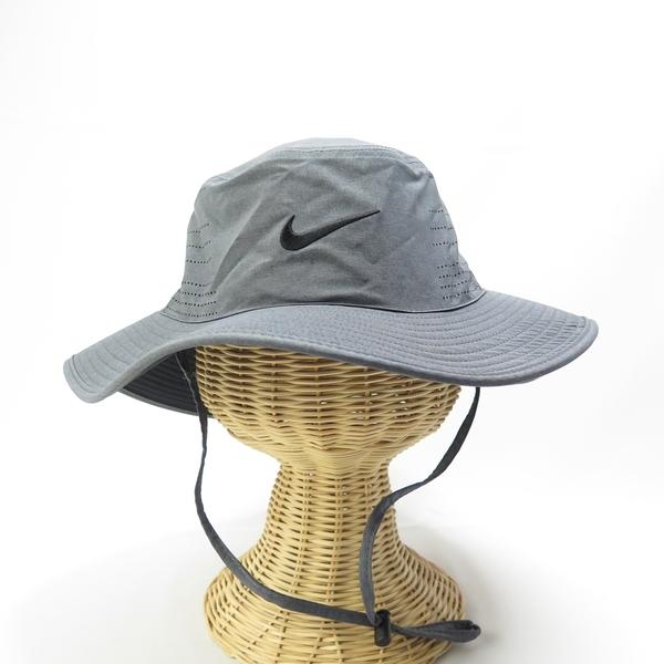 NIKE U NK UV CAP BUCKET 漁夫帽 遮陽帽 單一尺寸 AJ5468010 灰黑【iSport】