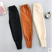 加厚秋冬毛呢蘿蔔褲女寬鬆直筒休閒褲子高腰哈倫褲九分顯瘦束腳褲
