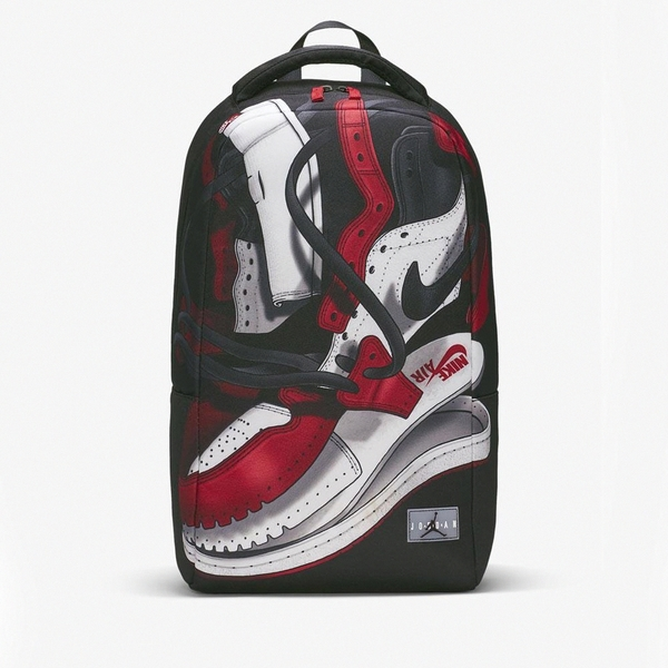 NIKE 後背包 JORDAN SHOE BACKPACK 喬丹鞋 印花 大容量 運動 肩背包 (布魯克林) 9A0484-KR5