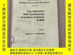 二手書博民逛書店high罕見resolution NMR spectroscopy of synthetic polymers i
