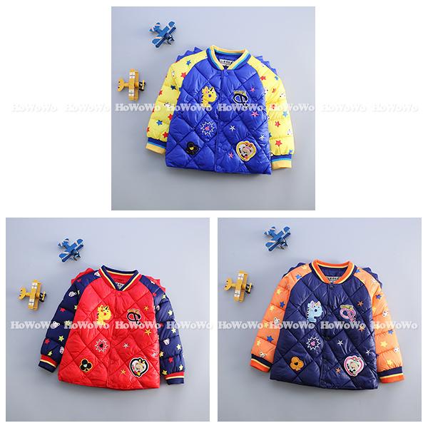鋪棉保暖厚外套 美式仿羽絨防風中小童夾克 YN14615 好娃娃