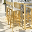 實木吧台桌家用北歐大理石吧台桌椅鐵藝高腳桌奶茶店靠牆酒吧桌椅ATF 美好生活居家館