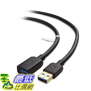 [106美國直購] Cable Matters 數據線 SuperSpeed USB 3.0 Type A Male to Female Extension Cable in Black 10 Feet