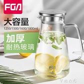 富光FGA冷水壺套裝家用大容量泡茶壺玻璃耐高溫加厚涼水壺果汁壺