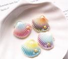 漸變彩色貝殼,海洋樹酯配件,尺寸2.8*2.5公分,單個價