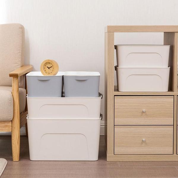 塑料大號收納盒衣服收納盒有蓋衣柜抽屜整理箱家用床底衣物儲物箱wy【萬聖夜來臨】