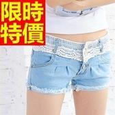 牛仔短褲-高腰走秀款單寧女休閒褲57d9【巴黎精品】