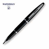 Waterman海洋筆系黑桿白夾18k鋼筆
