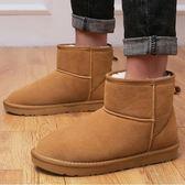 男雪靴冬季保暖加絨加厚短靴子馬丁靴