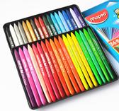 法國馬培德24 36 48色塑料蠟筆 兒童畫筆安全無毒不粘手三角蠟筆