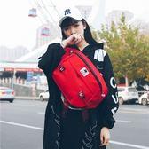 韓版時尚潮牌男女單肩包情侶背包嘻哈帆布郵差包休閒騎行包斜背包 全館免運