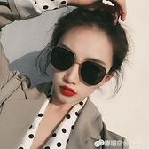 韓國潮網紅墨鏡女圓臉方圓形偏光太陽鏡街拍防紫外線遮陽男士眼鏡 檸檬衣舍
