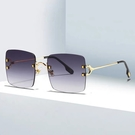 歐美時尚方框金屬墨鏡 漸層灰 獨家不撞款 精緻流行高品質顯小臉太陽眼鏡