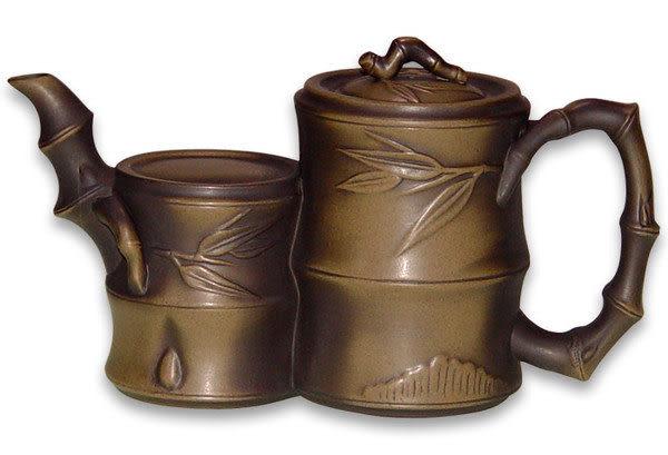 鹿港窯~ 意象紫砂茶壺【竹報平安】◆ 免運費送到家